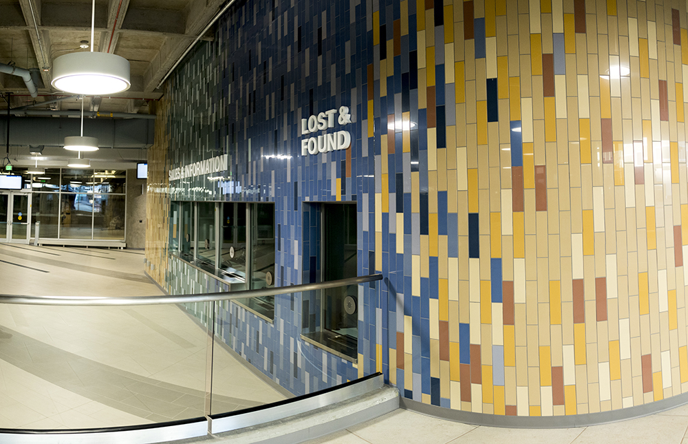 Inside Civic Center Station, which is almost ready to open, Dec. 12, 2017. (Kevin J. Beaty/Denverite)  denver; colorado; denverite; kevinjbeaty; transportation; rtd; buses; civic center station;