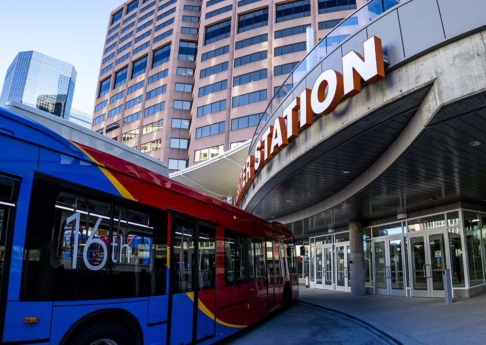 Civic Center Station is almost ready to open, Dec. 12, 2017. (Kevin J. Beaty/Denverite)  denver; colorado; denverite; kevinjbeaty; transportation; rtd; buses; civic center station;