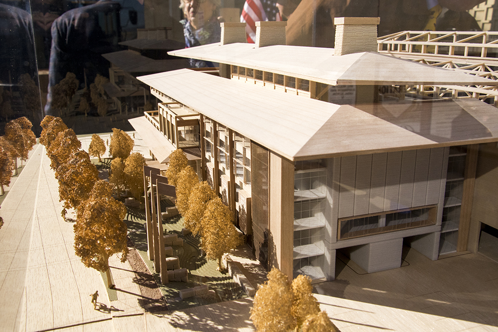 A model unveiled showing new plans for the National Western Center, Dec. 12, 2017. (Kevin J. Beaty/Denverite)