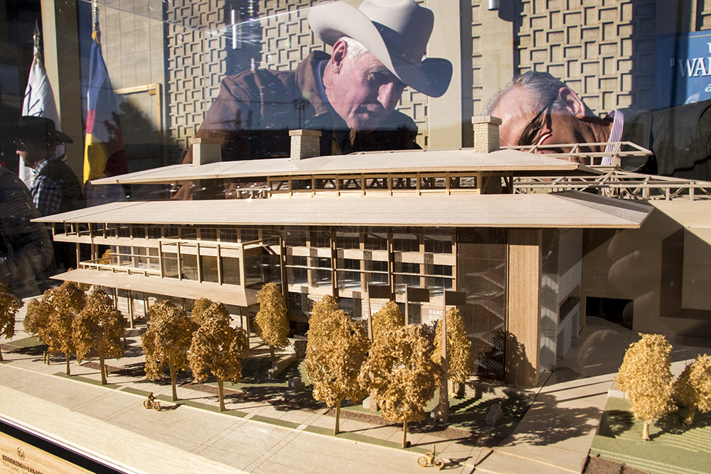 A model unveiled showing new plans for the National Western Center, Dec. 12, 2017. (Kevin J. Beaty/Denverite)  denver; colorado; denverite; kevinjbeaty; national western center; national western stock show; development;