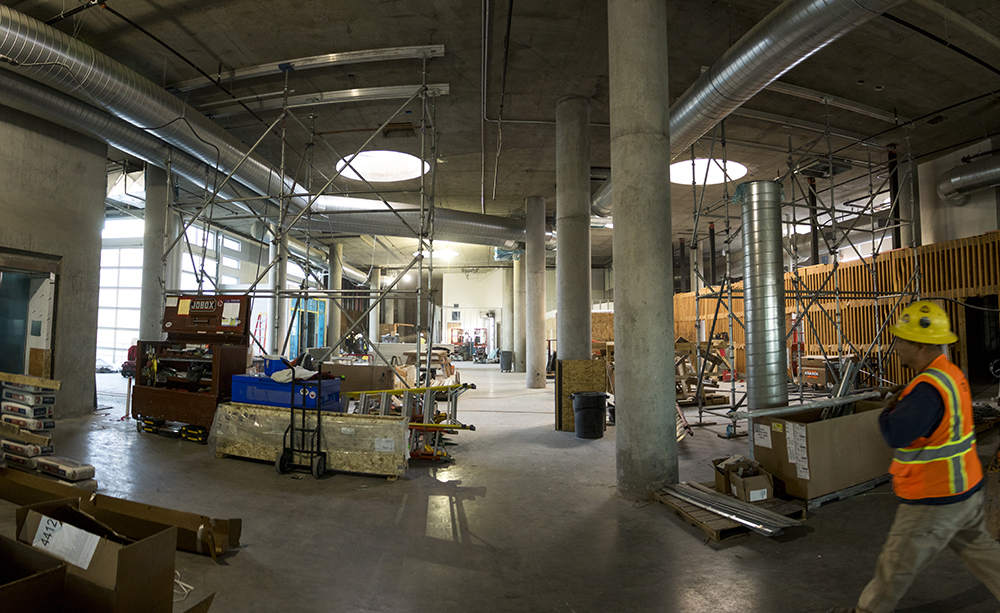 The future main hall of the Source Hotel, Dec. 12, 2017. (Kevin J. Beaty/Denverite)  rino; five points; brighton boulevard; the source; development; construction; kevinjbeaty; denver; denverite; colorado;