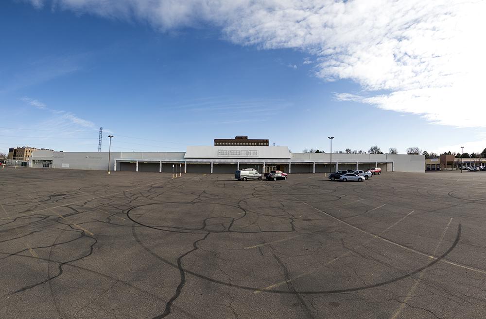 A former K-Mart at Monaco Parkway and Evans Avenue, Dec. 13, 2017. (Kevin J. Beaty/Denverite)  denver; colorado; denverite; kevinjbeaty; goldsmith;