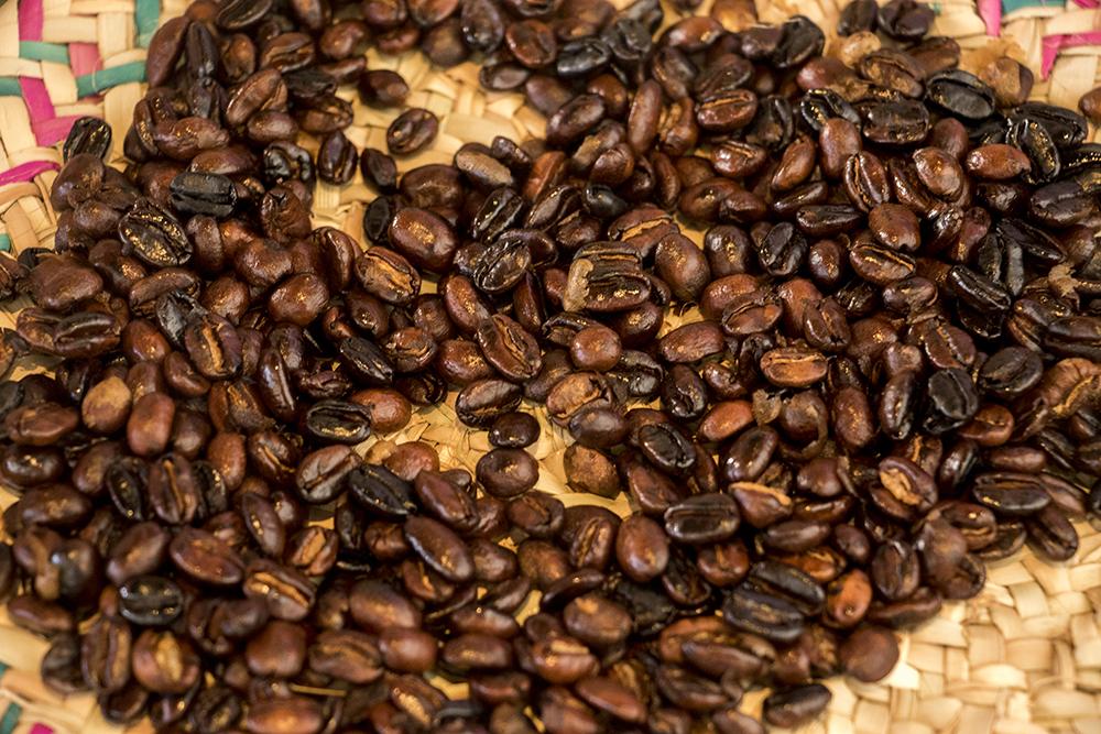 Just-roasted Ethiopian coffee. Comal Kitchen, Dec. 14, 2017. (Kevin J. Beaty/Denverite)  denver; colorado; denverite; kevinjbeaty; comal kitchen; food; globeville; taxi;