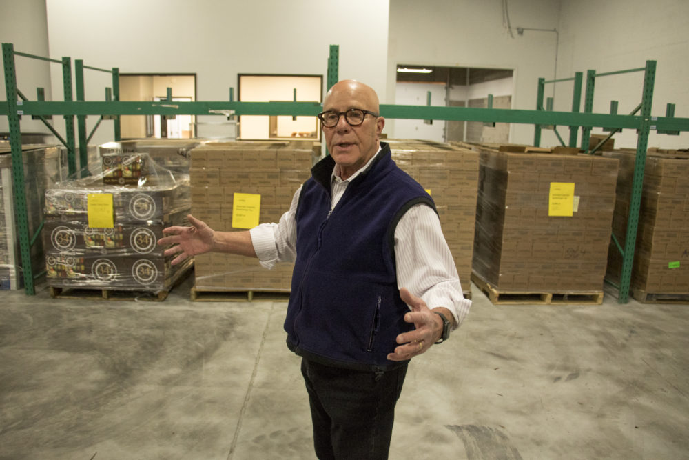 We Don't Waste founder and executive director Arlan Preblud gives a tour of his new headquarters, Dec. 18, 2017 (Kevin J. Beaty/Denverite)  denver; colorado; denverite; food insecurity; food; sustainability;