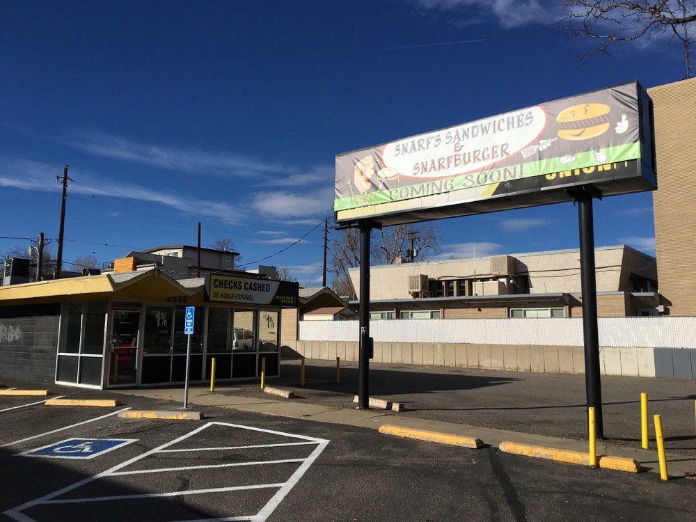 The future home of a Snarf's shop on Denver. (Andrew Kenney/Denverite)