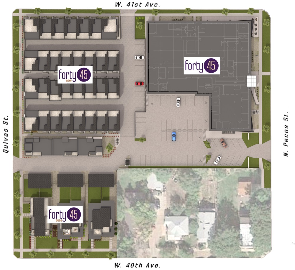 A site plan map for Forty 45 in Sunnyside. (Courtesy of HM Capital)