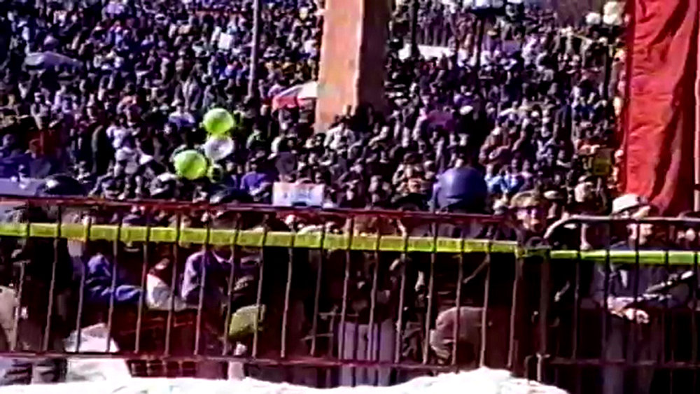 The 1992 Martin Luther King Jr. Marade, which clashed with white supremacist counterprotesters. Jan. 20, 1992. (Courtesy: Kerry Appel, Kurt Bauer, Stephen Hume)