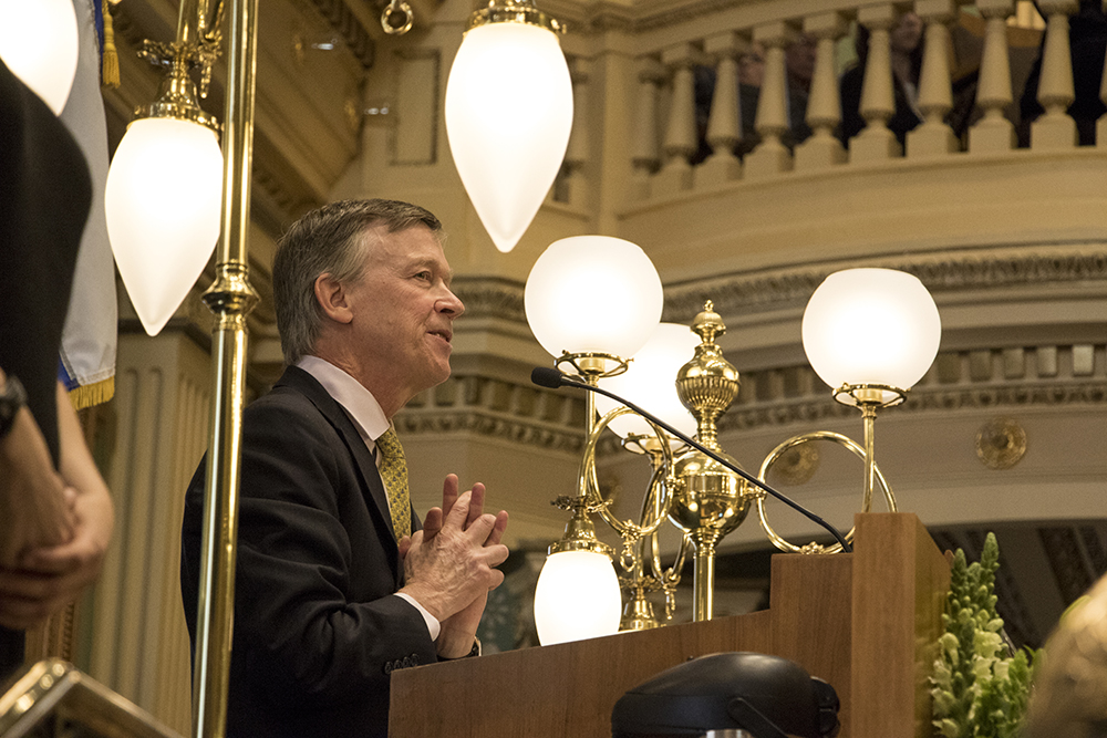 Governor John Hickenlooper's State of the State address, Jan. 11, 2017. (Kevin J. Beaty/Denverite)  copolitics; governor john hickenlooper; denver; colorado; denverite; kevinjbeaty;
