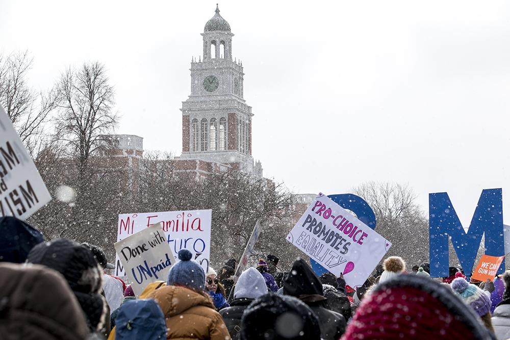The Martin Luther King Jr. Day Marade, Jan. 15, 2018. (Kevin J. Beaty/Denverite)mlk; martin luther king jr; marade; parade; march; colfax; denver; colorado; denverite; protest;