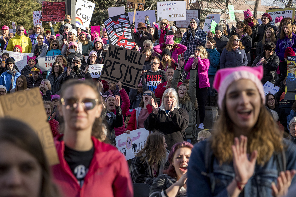 The 2018 Women's March. Civic Center Park, Jan. 20, 2018. (Kevin J. Beaty/Denverite)