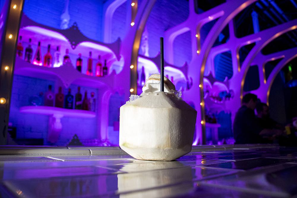 A Nose ender, tequila, cream of coconut, lime and serrano pepper. Bang Up To The Elephant's press opening, Jan. 23, 2018. (Kevin J. Beaty/Denverite)  restaurants; nightlife; food; denver; colorado; capitol hill; bars; kevinjbeaty;