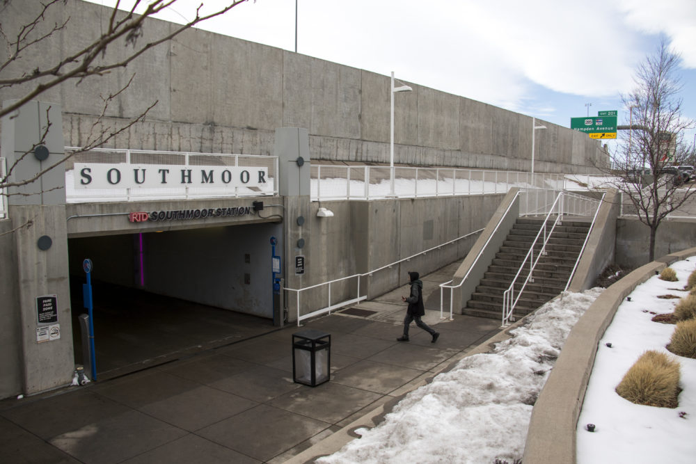 Southmoor Station, Jan. 24, 2018. (Kevin J. Beaty/Denverite)  hampden south;  denver; denverite; kevinjbeaty; colorado; rtd; train station; light rail; transportation;