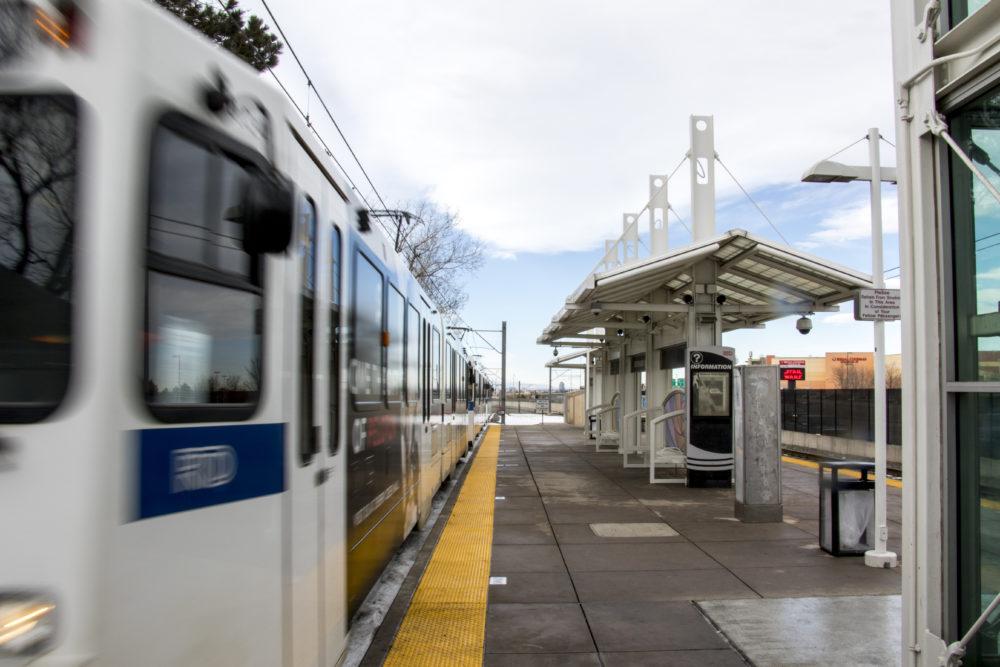 Southmoor Station, Jan. 24, 2018. (Kevin J. Beaty/Denverite)  hampden south;  denver; denverite; kevinjbeaty; colorado; rtd; train station; light rail; transportation;