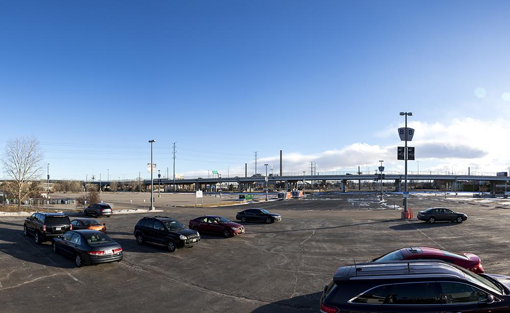 The parking lot at Mile High Stadium, Jan. 26, 2018. (Kevin J. Beaty/Denverite)