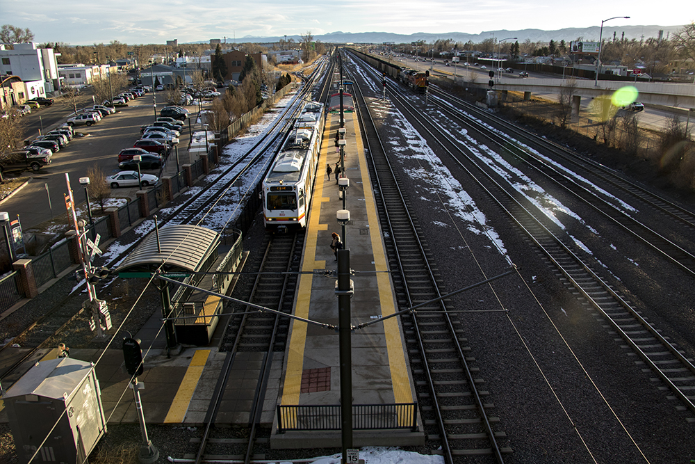 The RTD Evans Station, Overland. Jan. 25, 2018. (Kevin J. Beaty/Denverite)