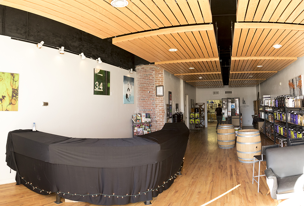 The hopeful future sake bar at Wine & Whey, Five Points. Jan. 29, 2018. (Kevin J. Beaty/Denverite)  denver; colorado; denverite; kevinjbeaty; five points; rino; commercial real estate; bars; nightlife; sake;
