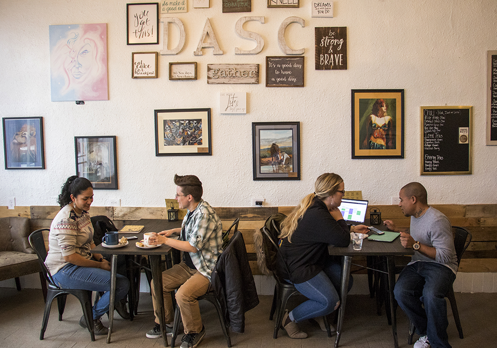 Open Door Tea Shop in the Cole neighborhood, Jan. 30, 2018. (Kevin J. Beaty/Denverite)  tea shop; coffee shop; food; denver; colorado; denverite; kevinjbeaty; cole; social enterprise;