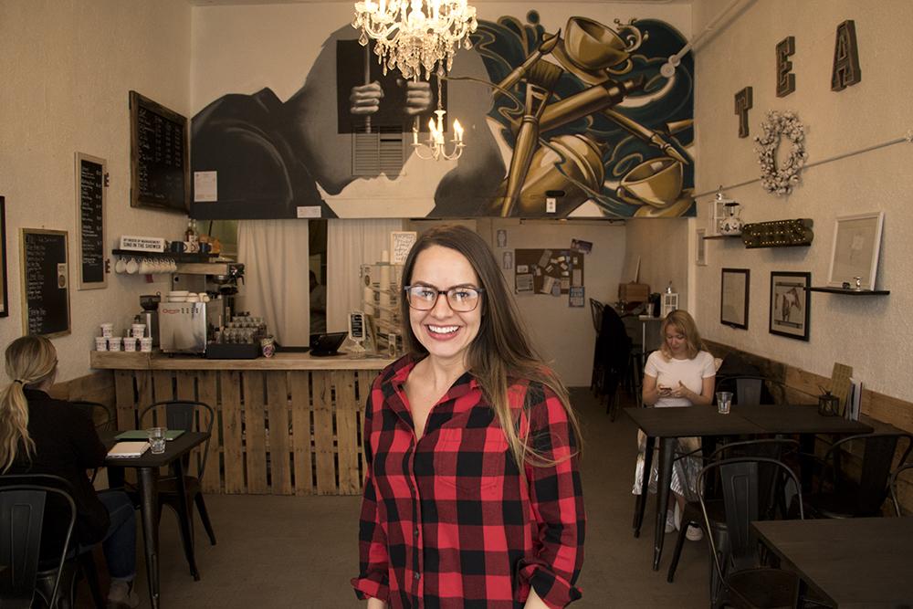 Kristin Cardenas inside her Open Door Tea Shop, Jan. 30, 2018. (Kevin J. Beaty/Denverite)  tea shop; coffee shop; food; denver; colorado; denverite; kevinjbeaty; cole; social enterprise;