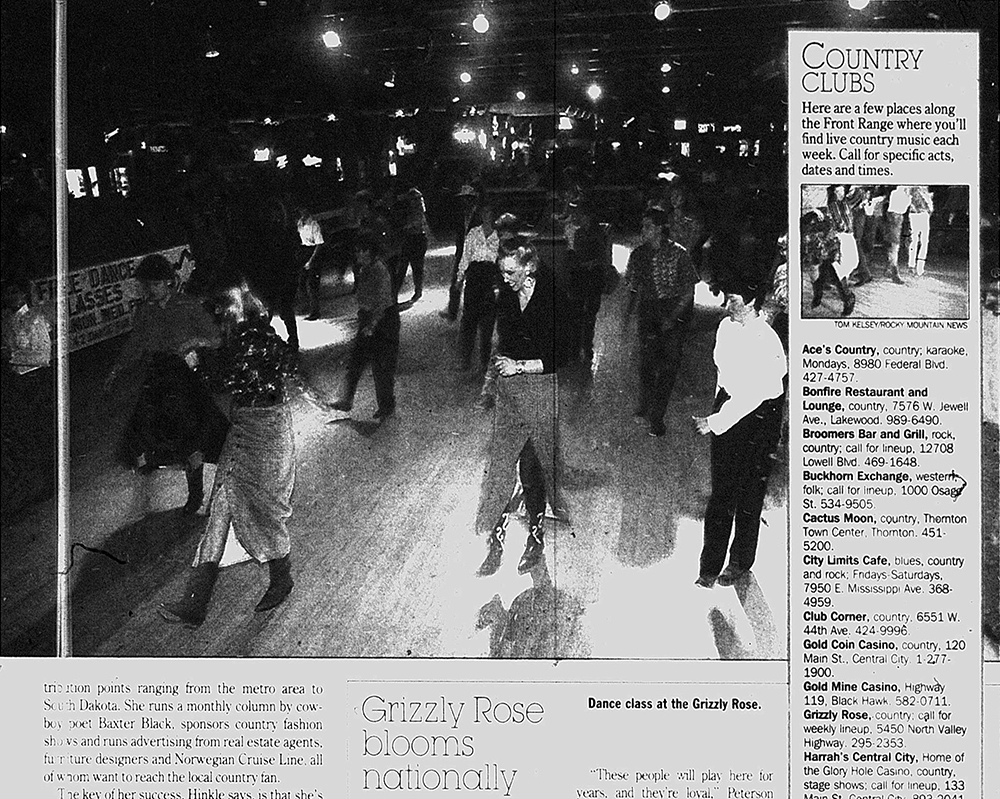 The Rocky Mountain News, Jul. 10, 1994. (Denver Public Library/Western History Collection)  country music; country bar; bars; nightlife;