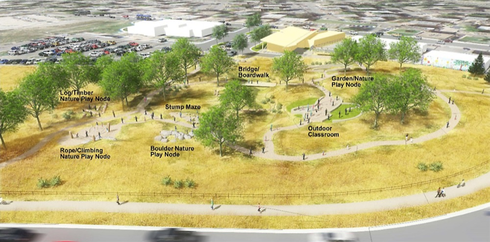 Proposed Montbello Open Space Park layout.  (Courtesy of The Trust for Public Land)