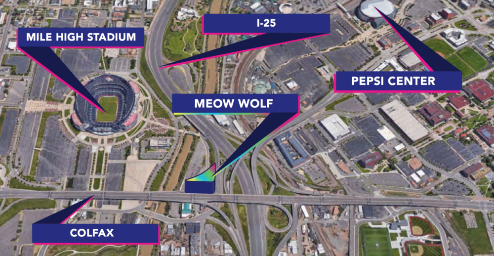 The anticipated location of Meow Wolf in Denver at 1338 First Street. (Courtesy of Meow Wolf)