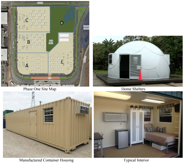 A site map and images from a Colorado Coalition for the Homeless document about its Lakewood affordable housing plan.