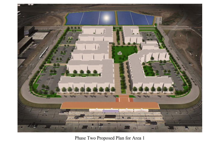 A rendering of apartment buildings planned for construction near Federal Center in Lakewood. (Colorado Coalition for the Homeless)