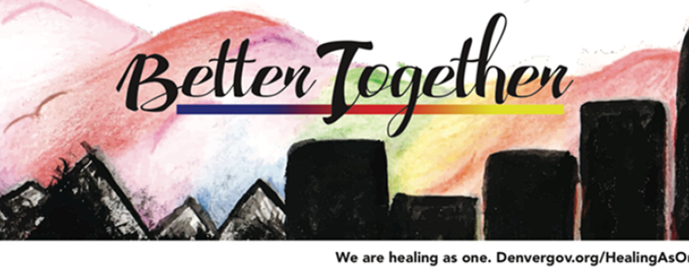 "The ""Better Together"" billboard designed by Youth at Arts Street. (Courtesy of the city and county of Denver)"