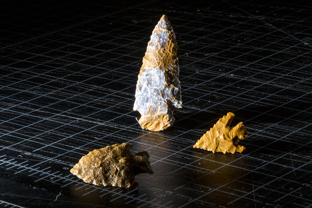 Arrowheads discovered at Magic Mountain in Golden, Feb. 1, 2018. (Kevin J. Beaty/Denverite)  denver; colorado; denverite; kevinjbeaty; denver museum of nature and science; dmns; archaeology;