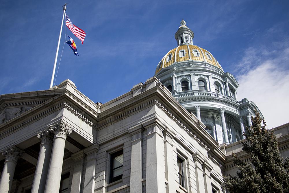 The Colorado State Capitol, Feb. 14, 2018. (Kevin J. Beaty/Denverite)