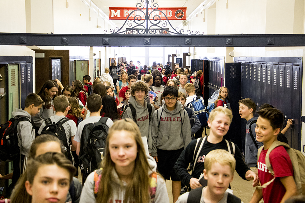 McAuliffe International School, North Park Hill, Feb. 15, 2018. (Kevin J. Beaty/Denverite)  denver; colorado; denverite; kevinjbeaty; school; education; north park hill; students;