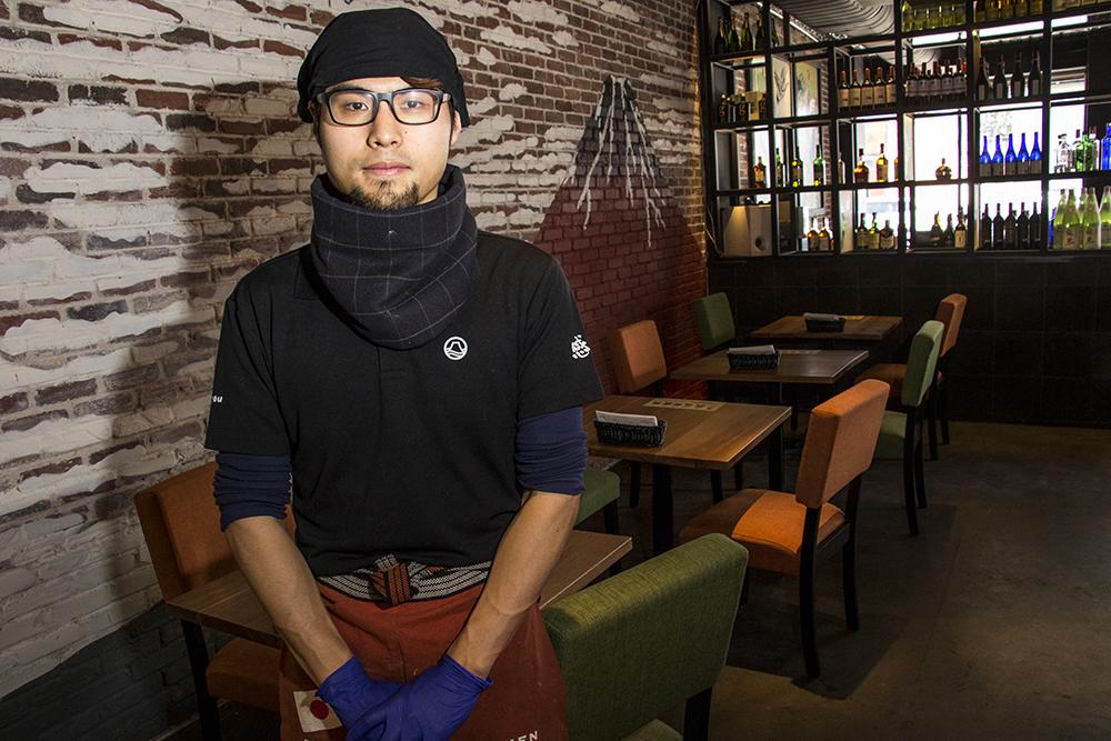 Mitsuru Saito, Kazan Ramen's head chef, Feb. 16, 2018. (Kevin J. Beaty/Denverite)  food; restaurant; tennyson; berkeley; denver; denverite; kevinjbeaty; colorado;