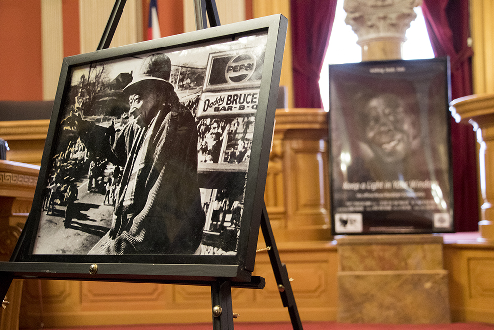 Photos of Daddy Bruce Randolph as he's honored at the Colorado State Capitol, Feb. 20, 2018. (Kevin J. Beaty/Denverite)  denver; colorado; kevinjbeaty; denverite; daddy bruce randolph;
