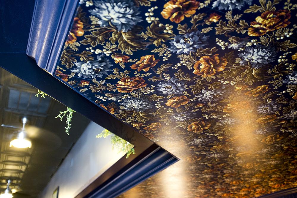 A radical ceiling. The Way Back before it opens in its new Tennyson Street location, Feb. 23, 2018. (Kevin J. Beaty/Denverite)  food; nightlife; berkeley; tennyson; denver; denverite; kevinjbeaty; colorado;