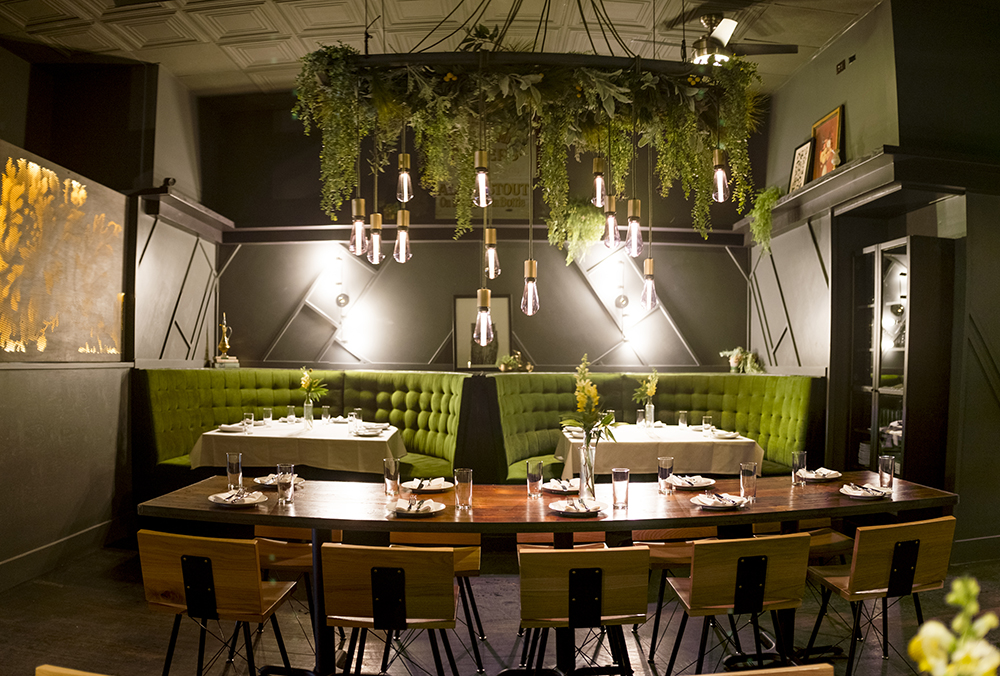 The dining room in the back of The Way Back before it opens in its new Tennyson Street location, Feb. 23, 2018. (Kevin J. Beaty/Denverite)  food; nightlife; berkeley; tennyson; denver; denverite; kevinjbeaty; colorado;