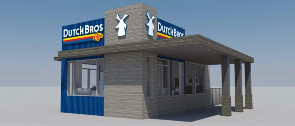 A rendering of the Dutch Bros. Coffee shop location under construction in Lakewood. Courtesy of Dave Szopa)