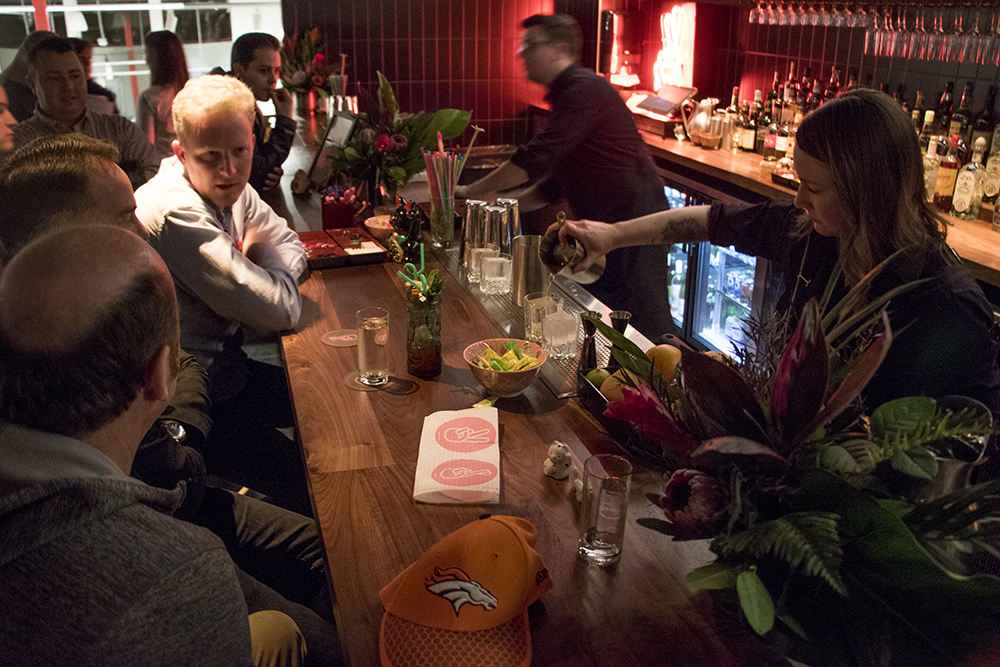 Big Trouble, the bar on the second floor inside Zeppelin Station, March 1, 2018. (Kevin J. Beaty/Denverite)  food; nightlife; denver; denverite; colorado; kevinjbeaty; rino; five points;