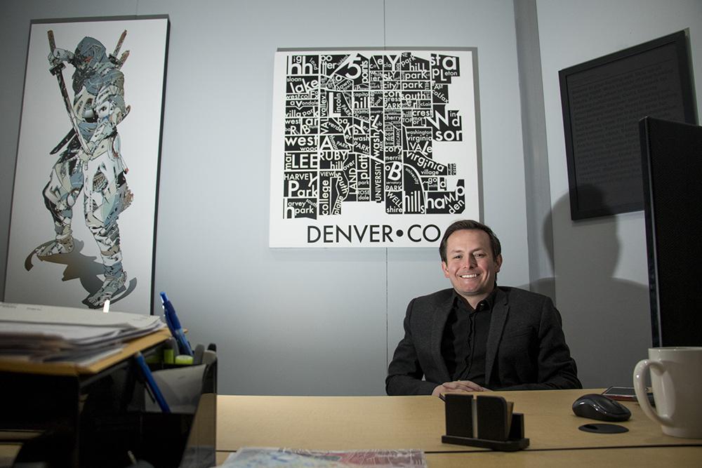 Peter Smith in his office, March 6, 2018. (Kevin J. Beaty/Denverite)  denver; colorado; denverite; kevinjbeaty; election; copolitics;