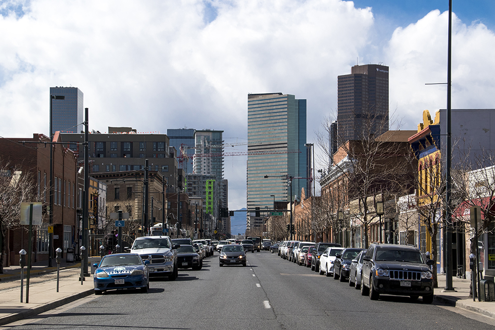 Welton Street, March 15, 2018. (Kevin J. Beaty/Denverite)  denver; denverite; kevinjbeaty; colorado; five points; welton street;