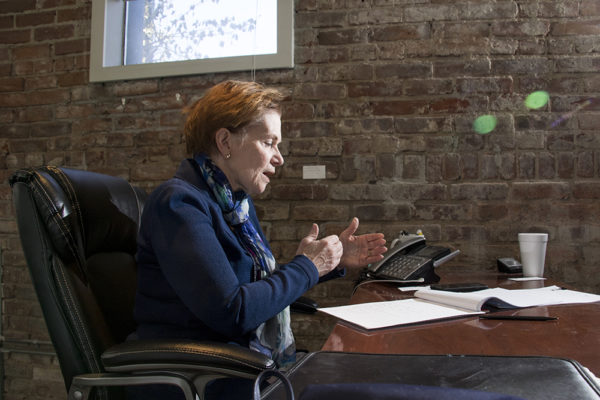 Lieutenant Governor Donna Lynne in her gubernatorial campaign headquarters in Capitol Hill, March 20, 2018. (Kevin J. Beaty/Denverite)  kevinjbeaty; denver; denverite; colorado; copolitics; election;