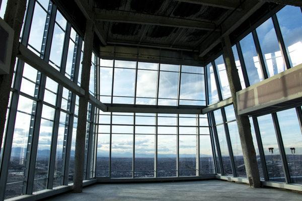 The 40th floor of Denver's newest skyscraper, 1144 Fifteenth, March 22, 2018. (Kevin J. Beaty/Denverite)  denver; colorado; denverite; development; kevinjbeaty; downtown; central business district; skyline; cityscape;