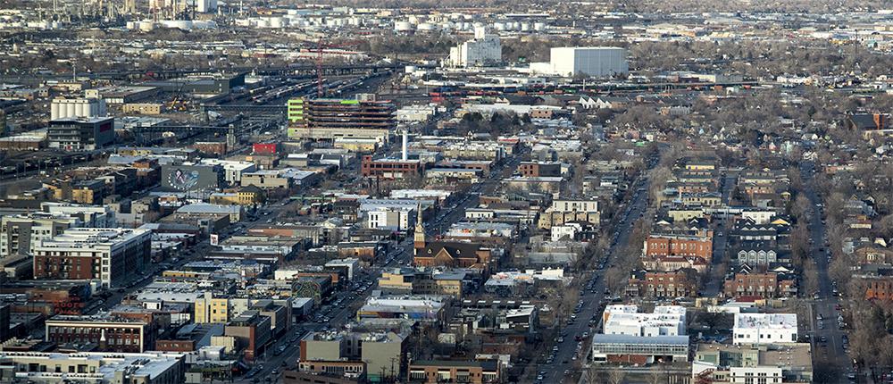 Five Points seen Denver's newest skyscraper, 1144 Fifteenth, March 22, 2018. (Kevin J. Beaty/Denverite)  denver; colorado; denverite; development; kevinjbeaty; downtown; central business district; skyline; cityscape; five points;
