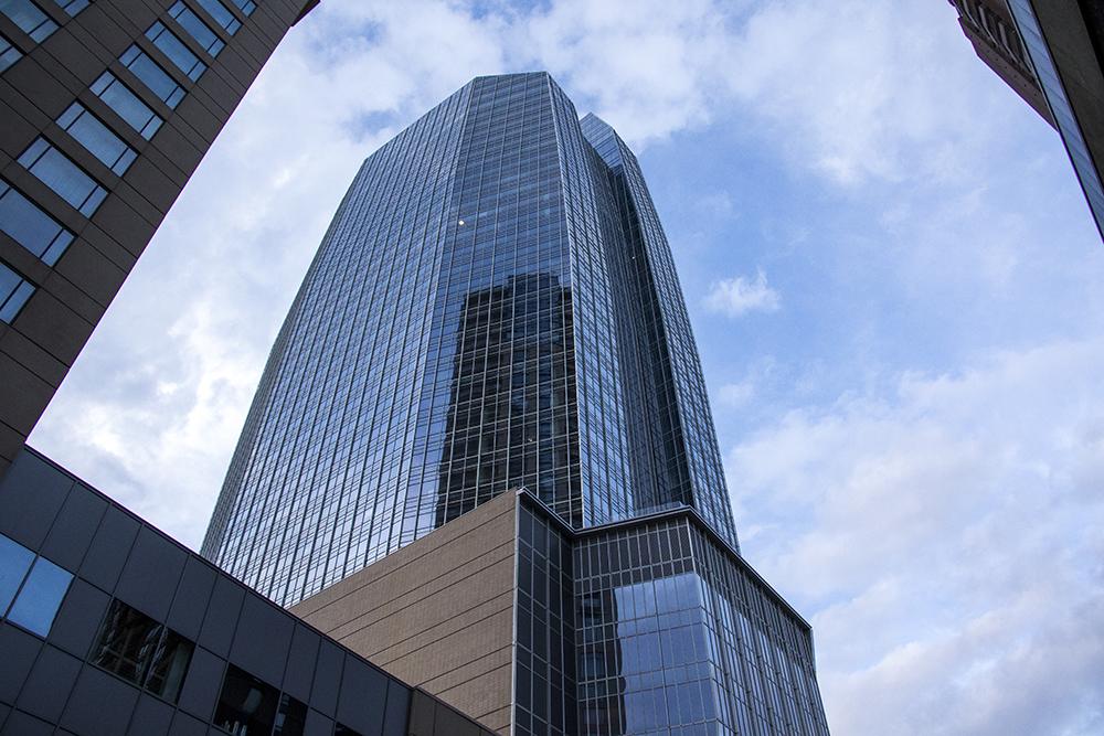Denver's newest skyscraper, 1144 Fifteenth, March 22, 2018. (Kevin J. Beaty/Denverite)