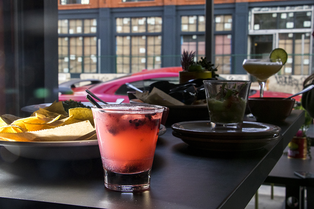 A blackberry paloma at Los Chingones' new space on Larimer Street, Los Lounge, is open for business, March 23, 2018. (Kevin J. Beaty/Denverite)  food; nightlife; rino; five points; denver; colorado; denverite; kevinjbeaty;