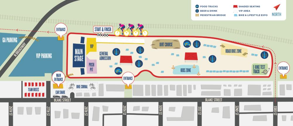 2018 Velorama map via veloramafestival.com.