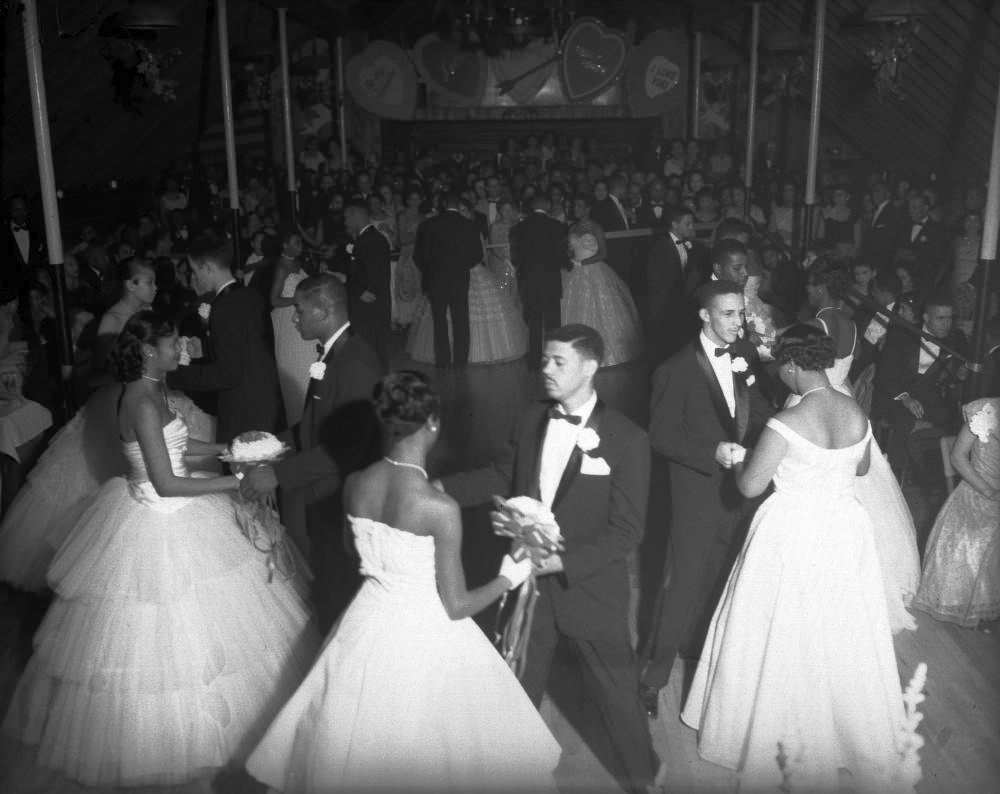 Teenagers at an Owl Club function, circa 1960. (Burnis McCloud/Western History & Genealogy Dept./Denver Public Library/MCD-223)