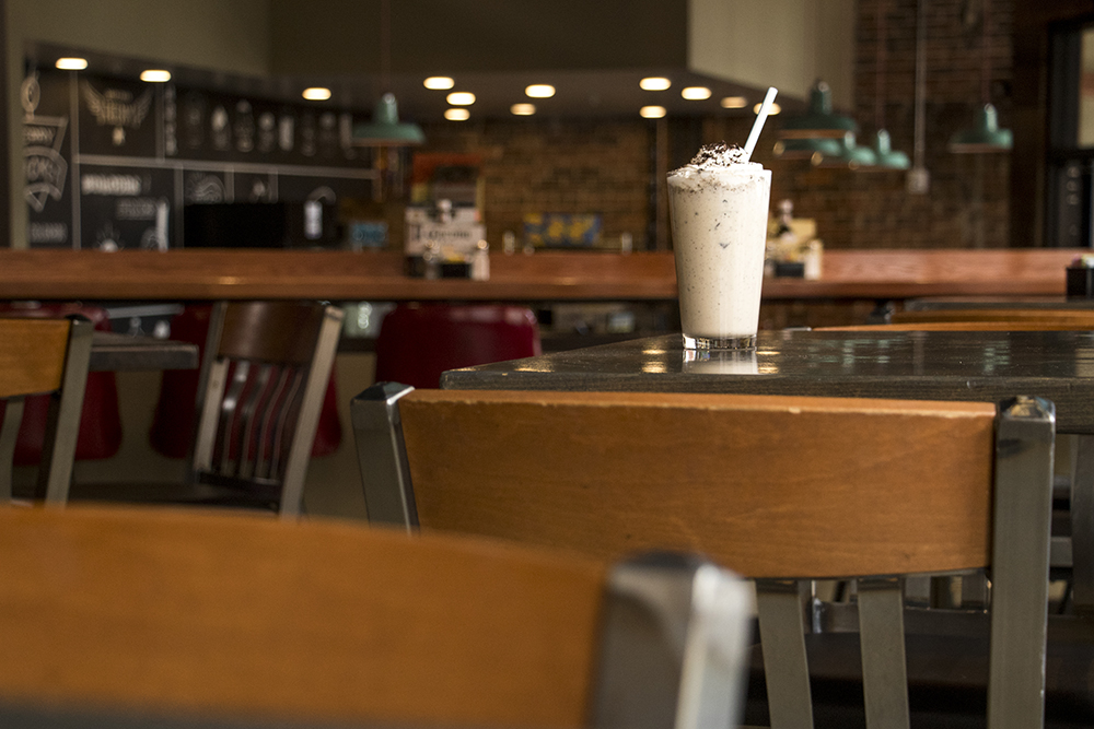 The Lebowski, a milkshake, at the Cherry Cricket on Blake Street, which is nearly ready to open, April 16, 2018. (Kevin J. Beaty/Denverite)  food; restaurants; nightlife; bars; denver; denverite; kevinjbeaty; colorado; downtown; ballpark;