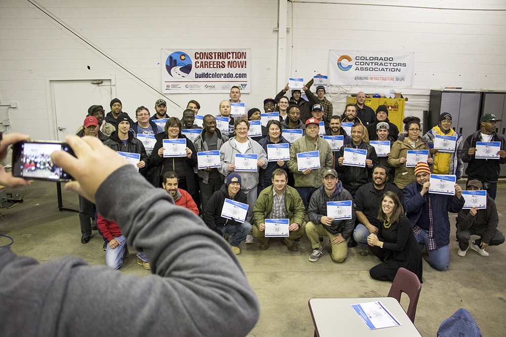 Graduation night at Construction Careers Now, Dec. 14, 2017. (Kevin J. Beaty/Denverite)  denver; colorado; denverite; kevinjbeaty; construction; development;