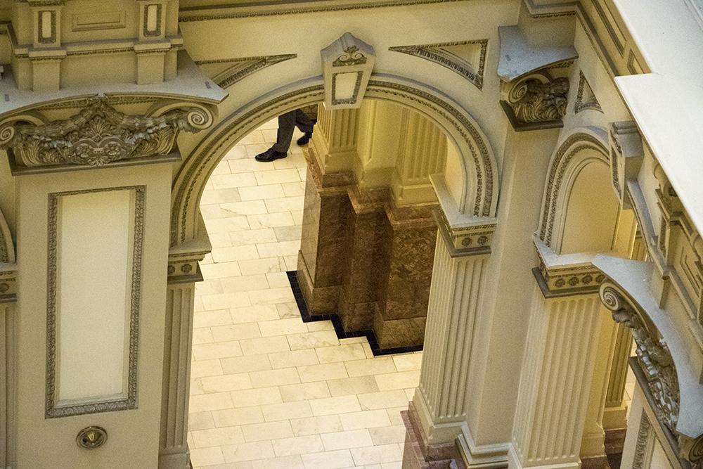 Inside the Colorado State Capitol, April 2, 2018. (Kevin J. Beaty/Denverite)  copolitics; gold dome; capitol building; denver; colorado; denverite; kevinjbeaty;