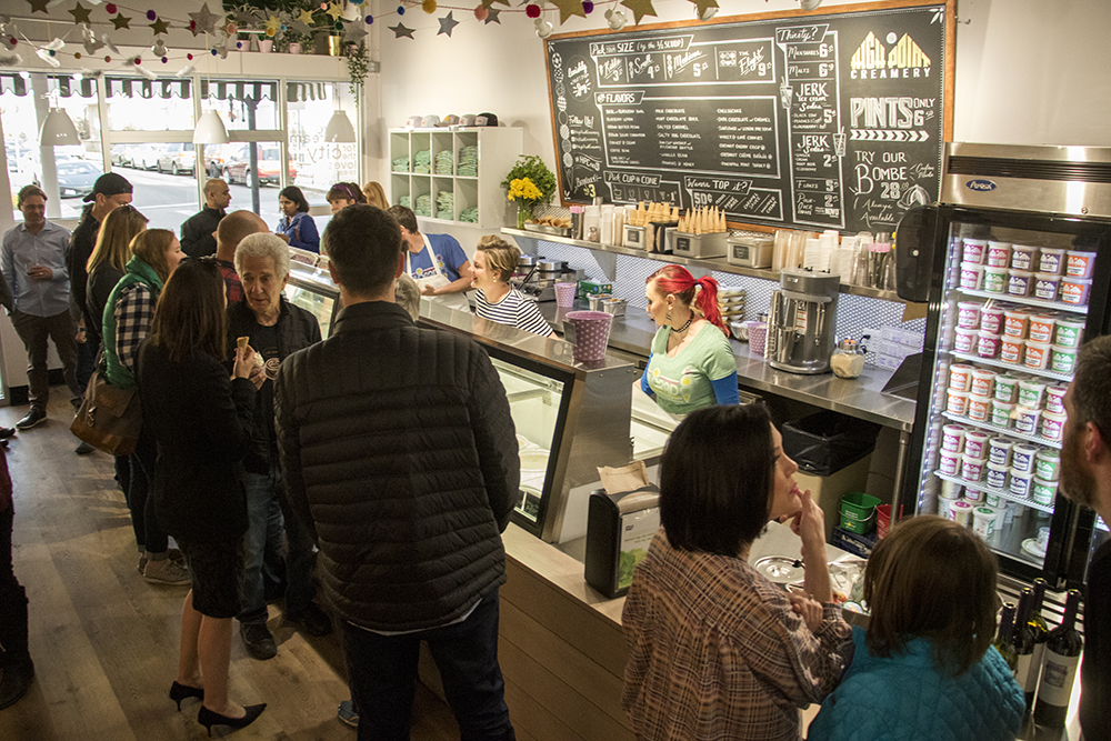 High Point Creamery is ready to open on Tennyson Street, April 4, 2018. (Kevin J. Beaty/Denverite)  food; dessert; ice cream; berkeley; tennyson street; denver; denverite; kevinjbeaty; colorado;